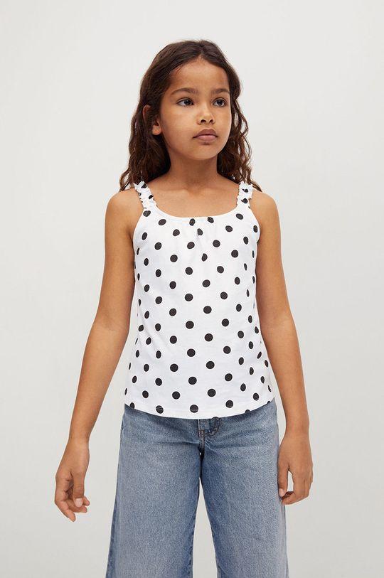 bílá Mango Kids - Dětský top MALI Dívčí