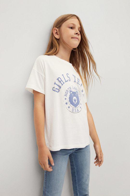 biela Mango Kids - Detské bavlnené tričko OSA Dievčenský