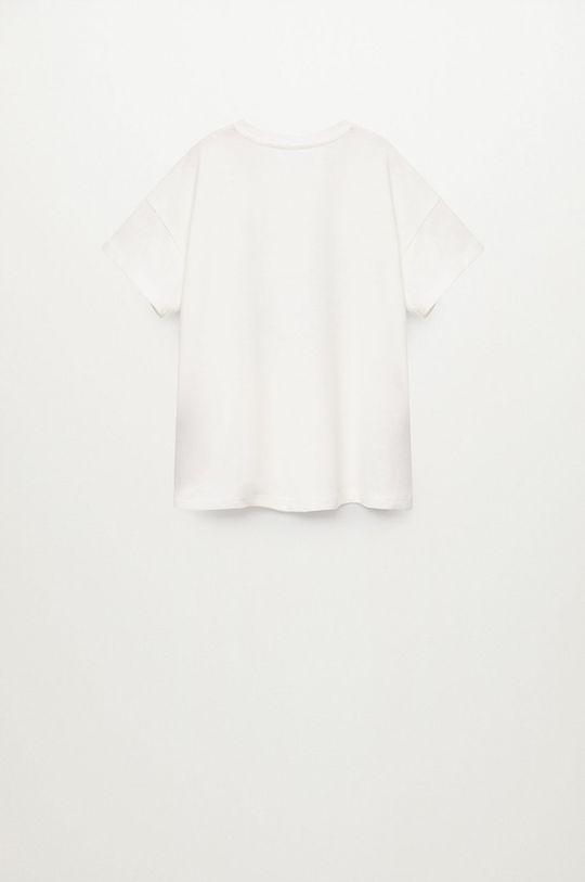 biela Mango Kids - Detské bavlnené tričko OSA