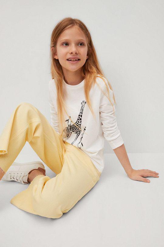 Mango Kids - Detské tričko s dlhým rukávom Sheldon  100% Bavlna