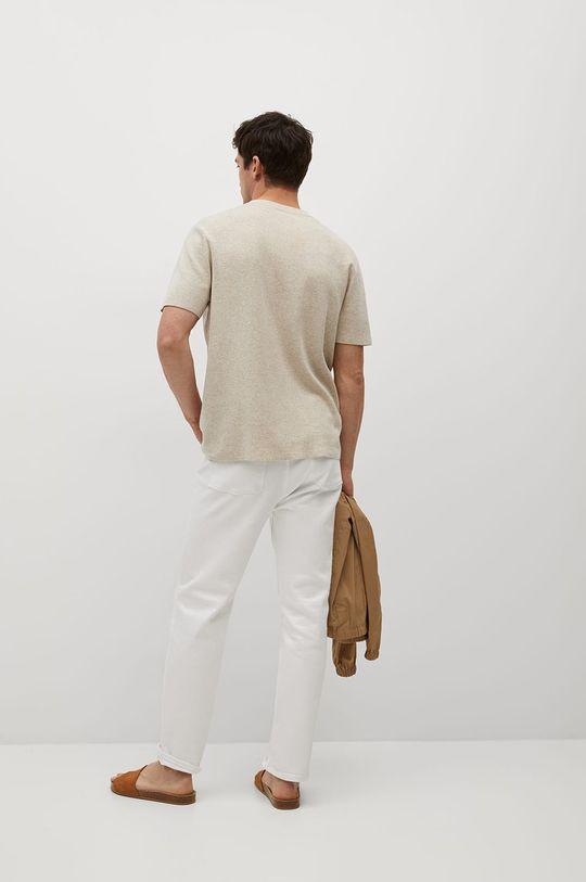 Mango Man - Tričko Ledet  17% Len, 18% Polyamid, 65% Polyester