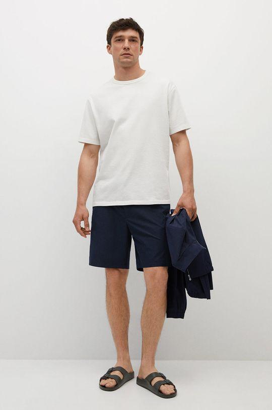 Mango Man - T-shirt bawełniany Anouk biały