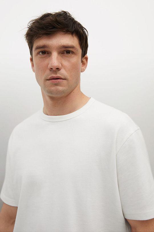 biały Mango Man - T-shirt bawełniany Anouk
