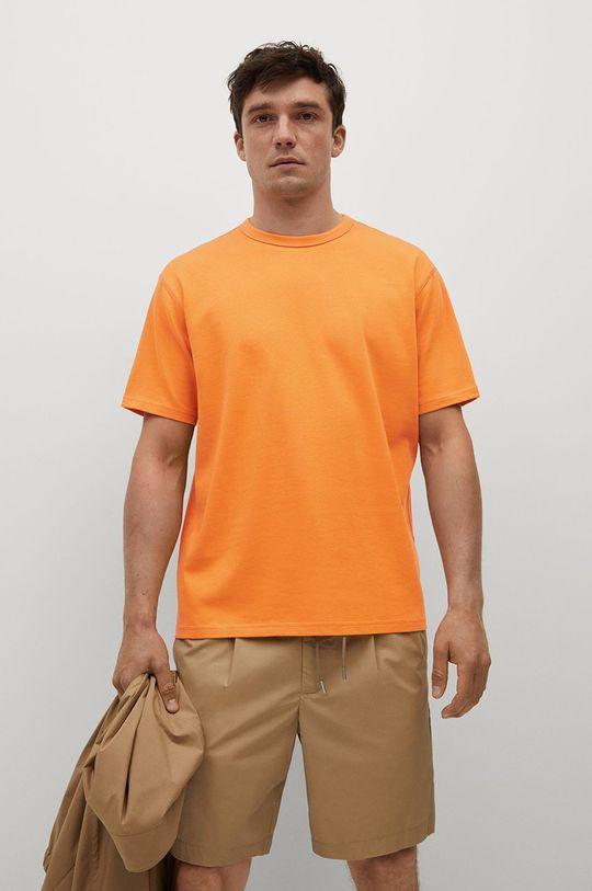 pomarańczowy Mango Man - T-shirt bawełniany Anouk Męski