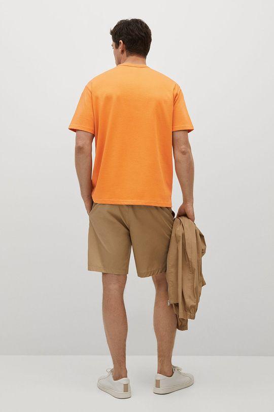 pomarańczowy Mango Man - T-shirt bawełniany Anouk