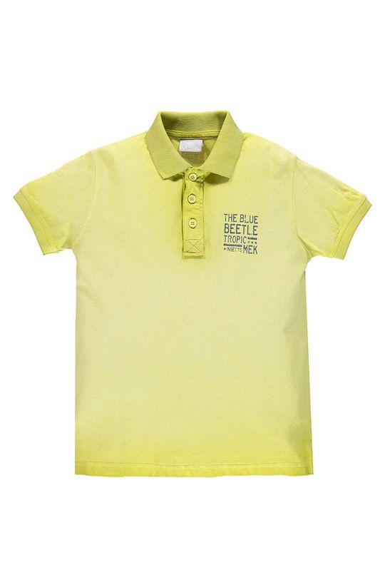 žlutě zelená Mek - Dětské polo tričko 122-170 cm Chlapecký