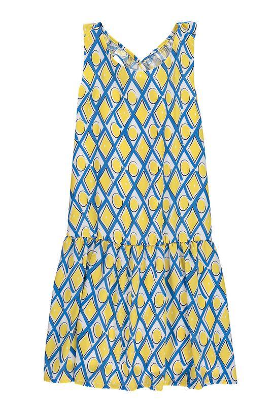 żółty Mek - Sukienka dziecięca 122-164 cm Dziewczęcy