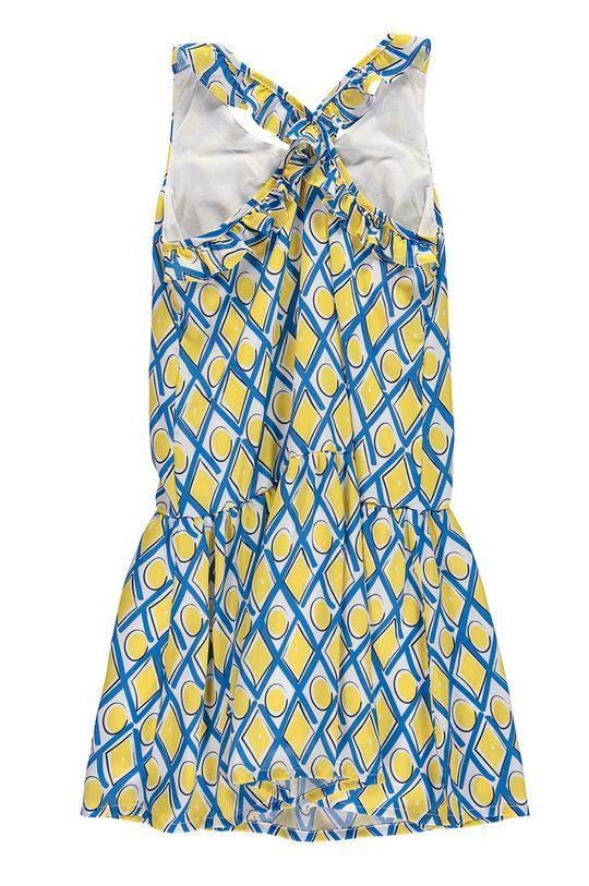 Mek - Sukienka dziecięca 122-164 cm żółty