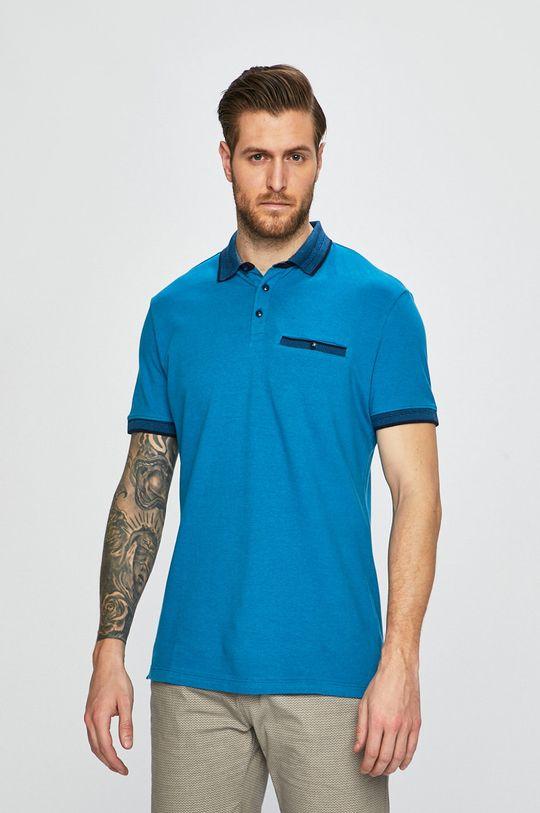 tyrkysová Medicine - Polo tričko Oceans Blue Pánský