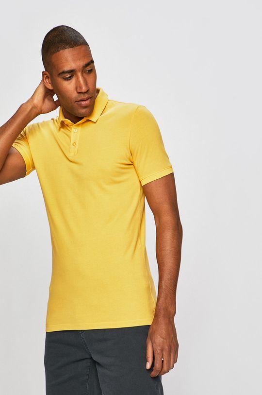 žltá Medicine - Pánske polo tričko Basic Pánsky