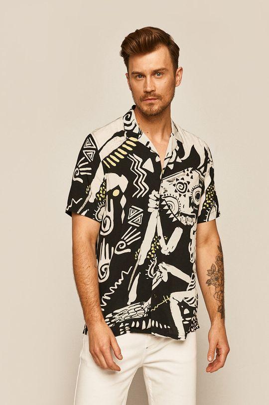 černá Medicine - Košile Hawaiian Etno Pánský