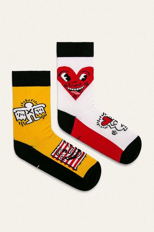 многоцветен Medicine - Чорапки by Keith Haring (2-бройки) Жіночий