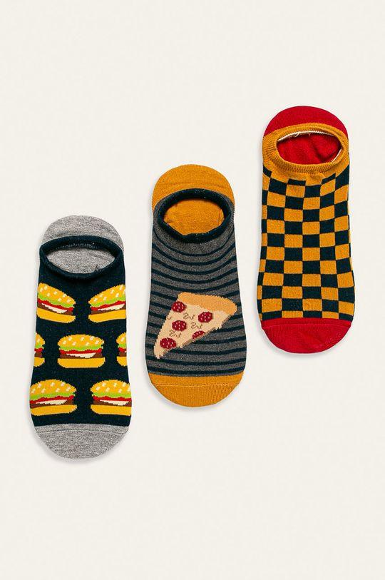 vícebarevná Medicine - Kotníkové ponožky Basic (3-pack) Pánský