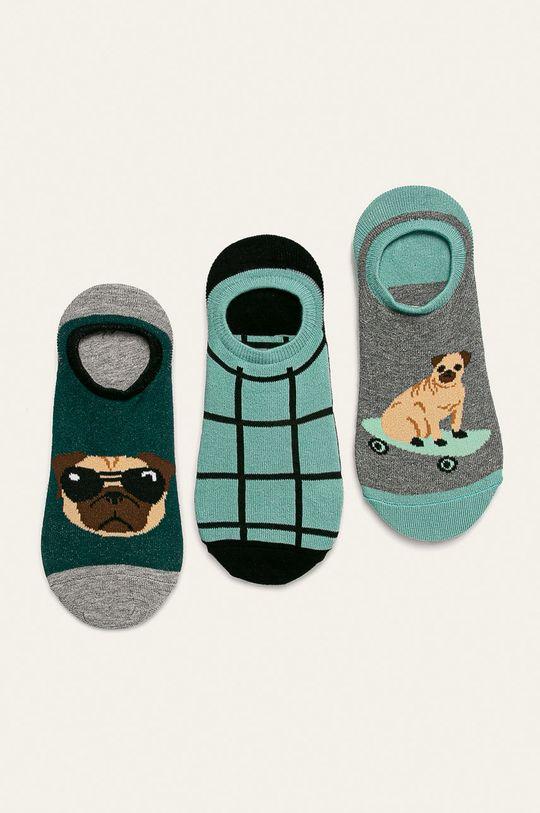 vícebarevná Medicine - Kotníkové ponožky Basic Pánský