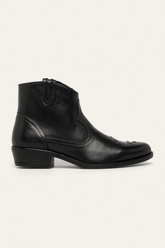 čierna Medicine - Kožené členkové topánky Western Horizons Dámsky