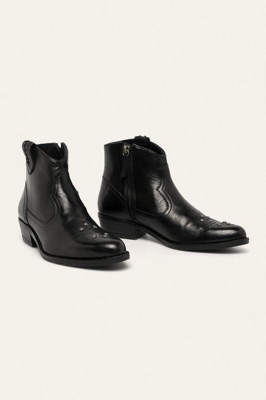Medicine - Kožené členkové topánky Western Horizons čierna