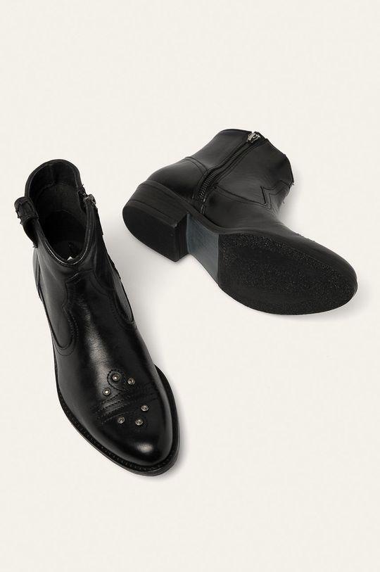 čierna Medicine - Kožené členkové topánky Western Horizons