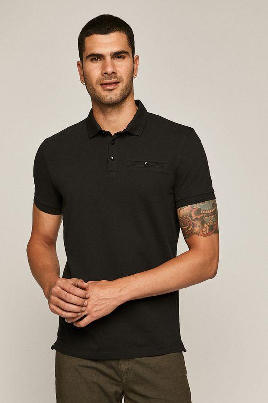 negru Medicine - Tricou Polo Basic De bărbați