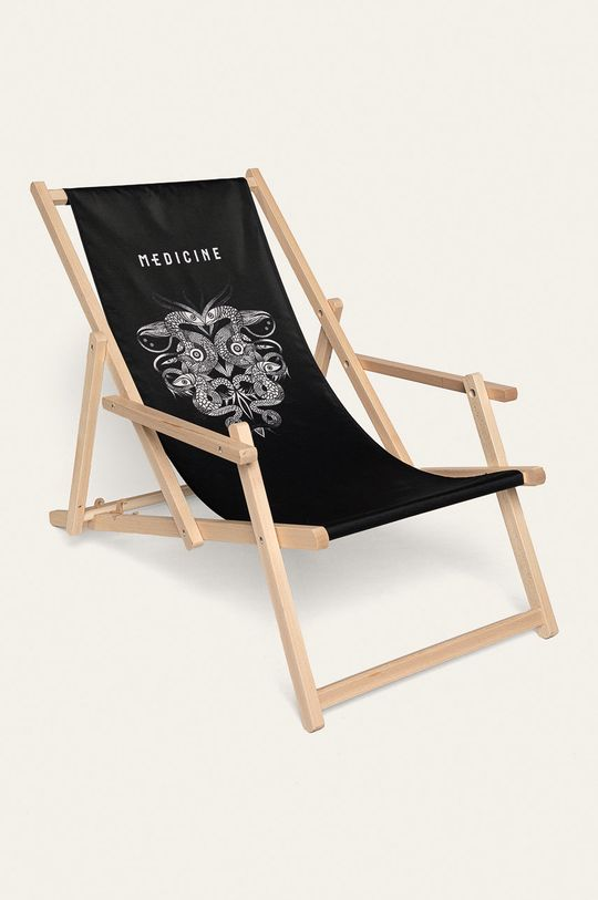 negru Medicine - Scaun de plaja Tattoo Konwent Unisex