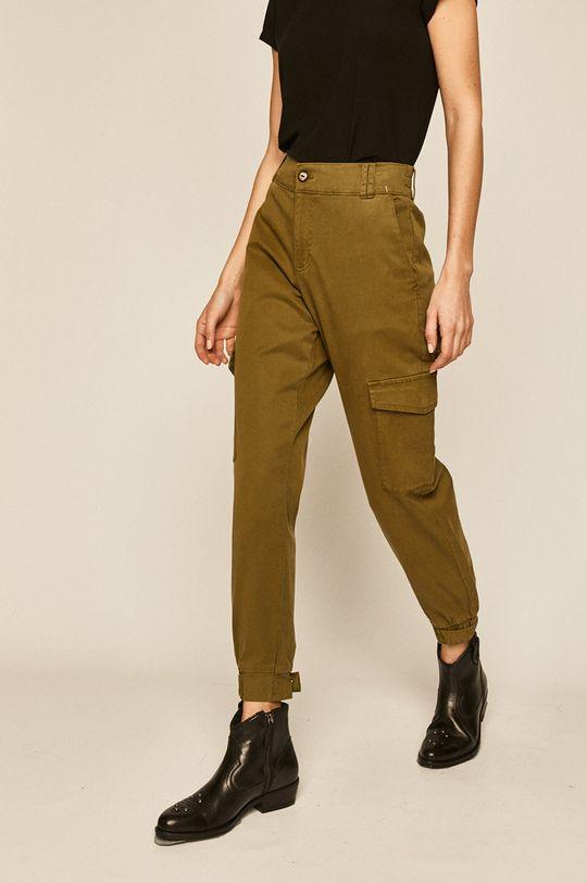 tlumená zelená Medicine - Kalhoty Basic Dámský