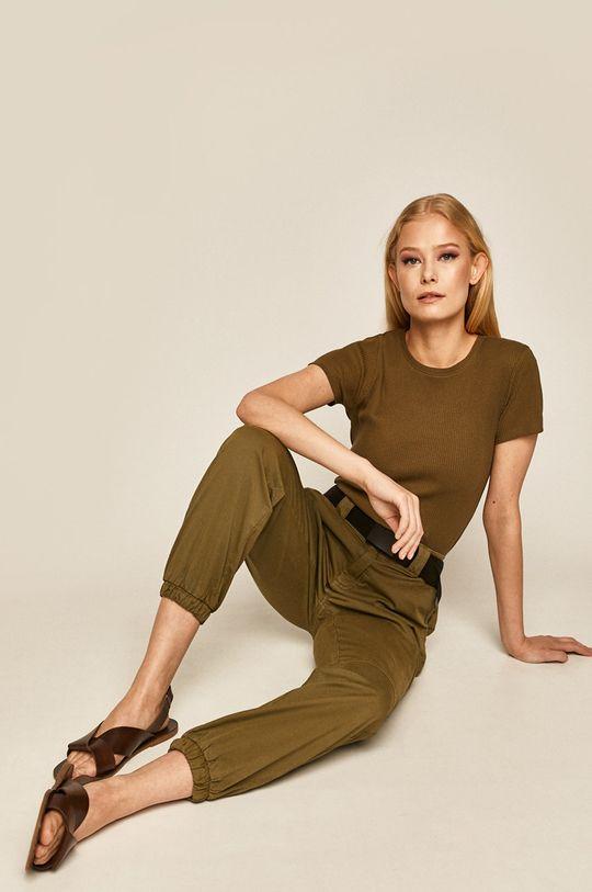 brudny zielony Medicine - Spodnie Basic Damski