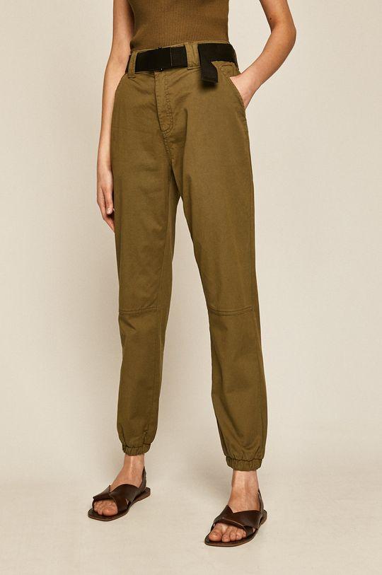 Medicine - Spodnie Basic brudny zielony