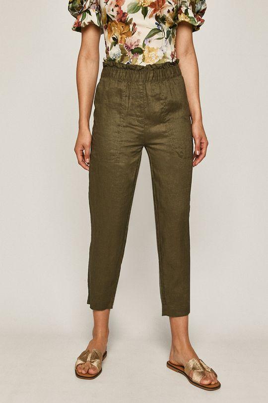 Medicine - Kalhoty Basic tlumená zelená