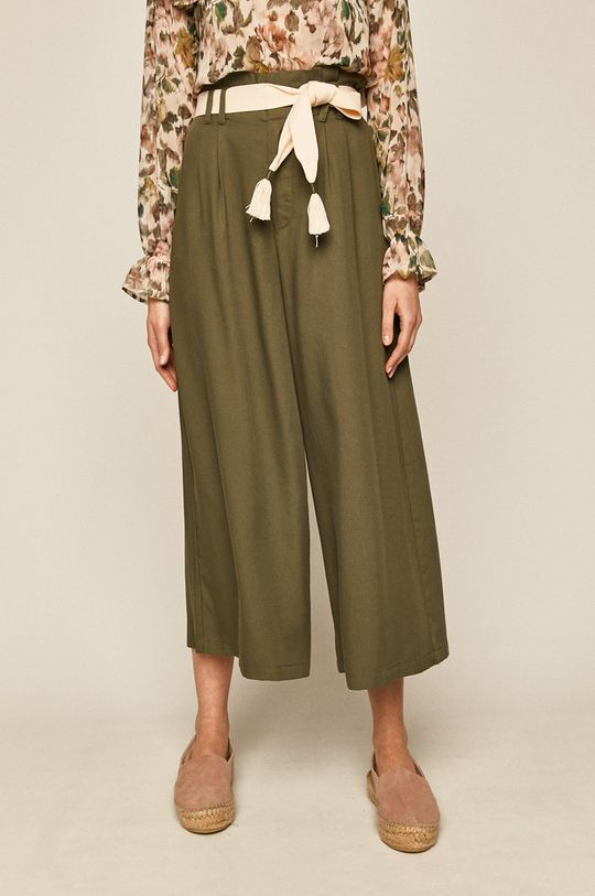 verde murdar Medicine - Pantaloni Boho Breeze De femei