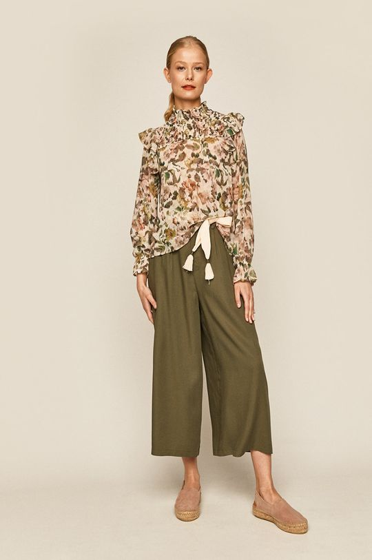 Medicine - Pantaloni Boho Breeze verde murdar