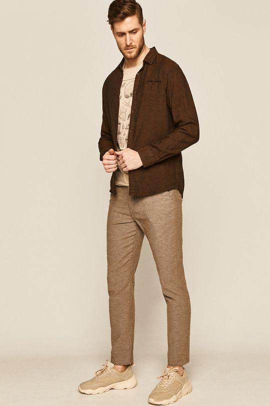 Medicine - Spodnie Basic brązowy