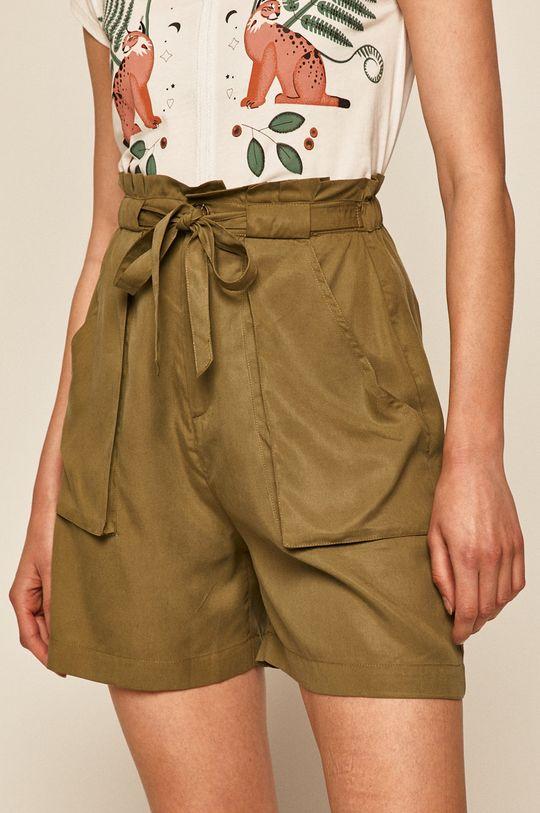 verde murdar Medicine - Pantaloni scurti Basic De femei