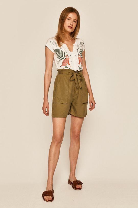 Medicine - Pantaloni scurti Basic verde murdar
