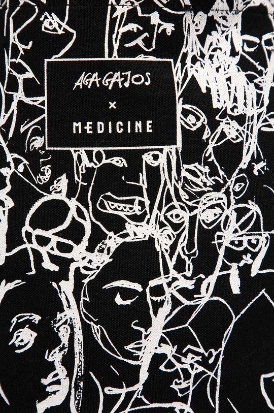 Medicine - Kabelka by Agnieszka Gajos, Grafika Polska černá