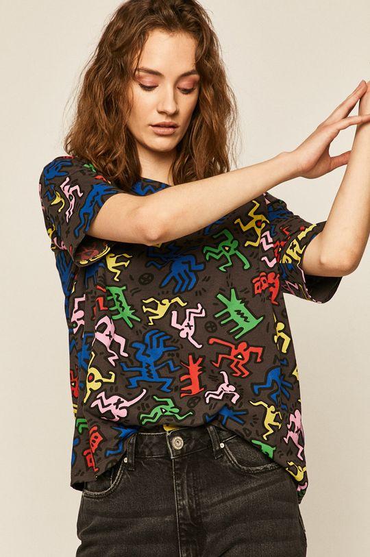 negru Medicine - Tricou by Keith Haring
