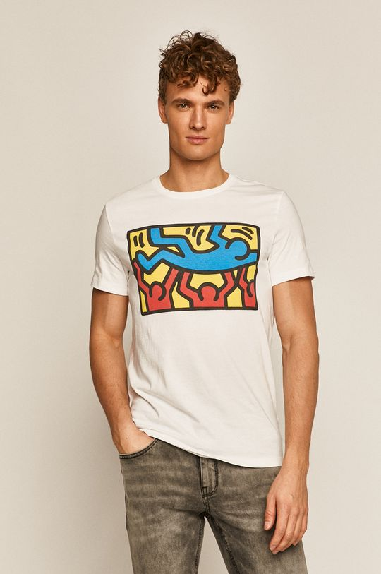 biały Medicine - T-shirt by Keith Haring