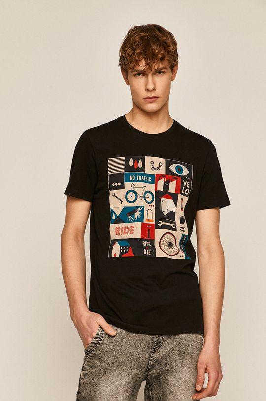 negru Medicine - Tricou Casual Utility De bărbați