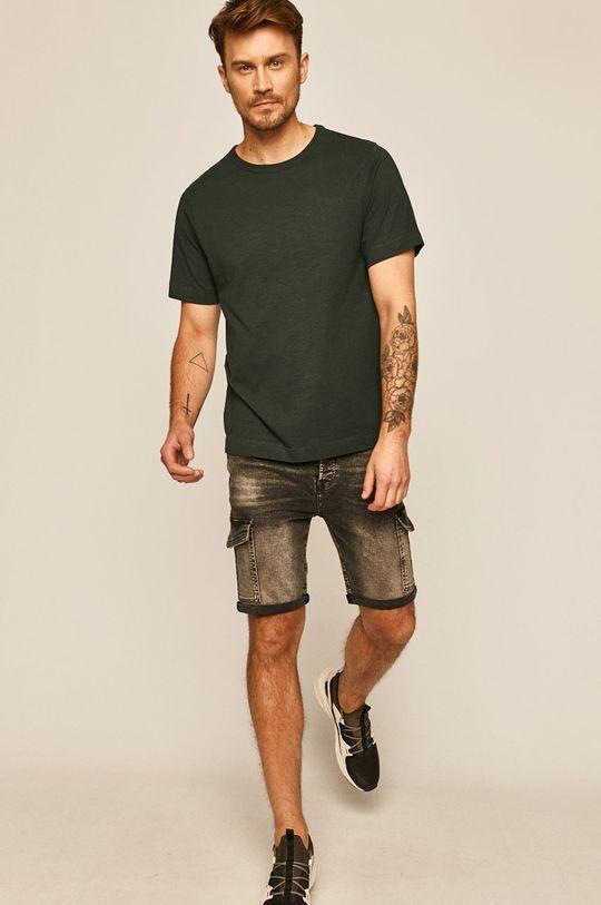 tmavě zelená Medicine - Tričko Basic Pánský
