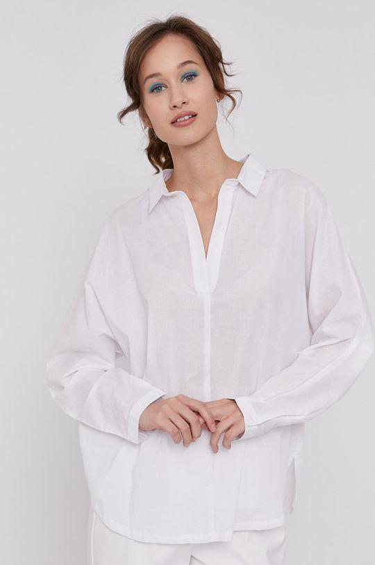alb Medicine - Bluza din bumbac Tropical Chaos De femei