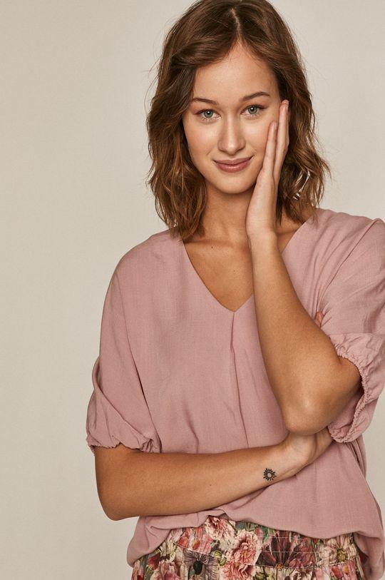 pastelowy różowy Medicine - Bluzka Basic