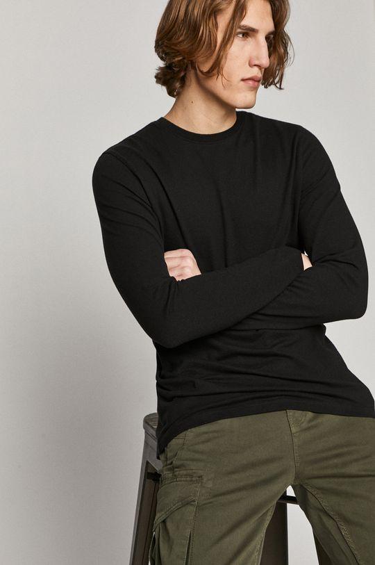 černá Medicine - Tričko s dlouhým rukávem Basic Pánský
