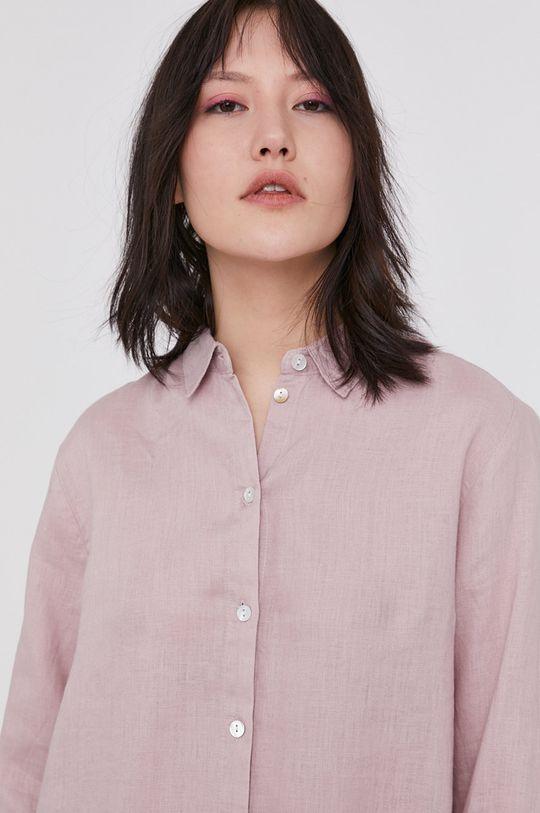 pastelowy różowy Medicine - Koszula Essential Damski