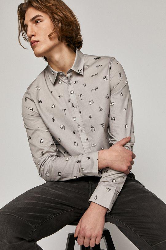 jasny szary Medicine - Koszula bawełniana Basic Męski