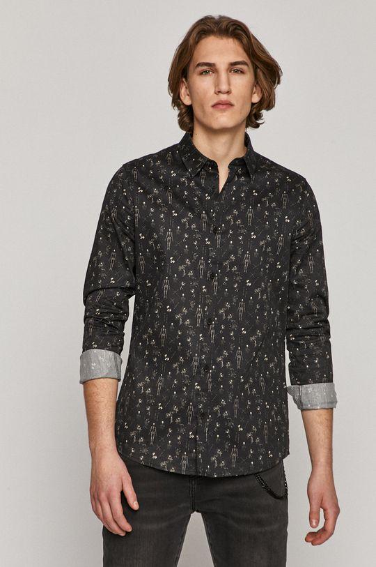 czarny Medicine - Koszula bawełniana Basic Męski