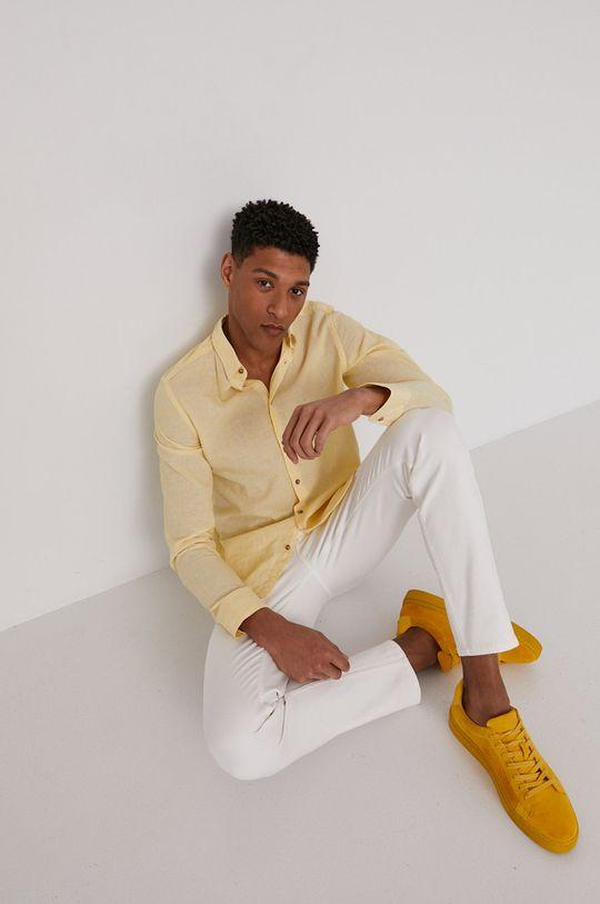 jasny żółty Medicine - Koszula Basic Męski