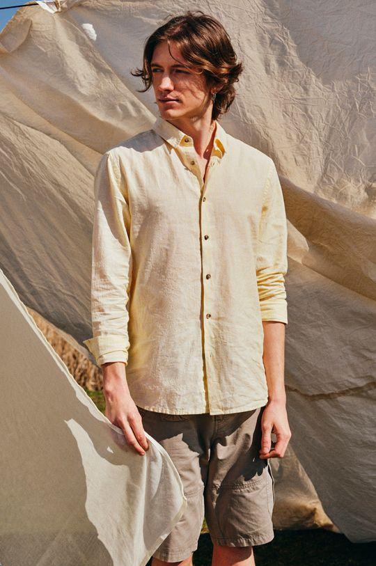 Medicine - Koszula Basic jasny żółty