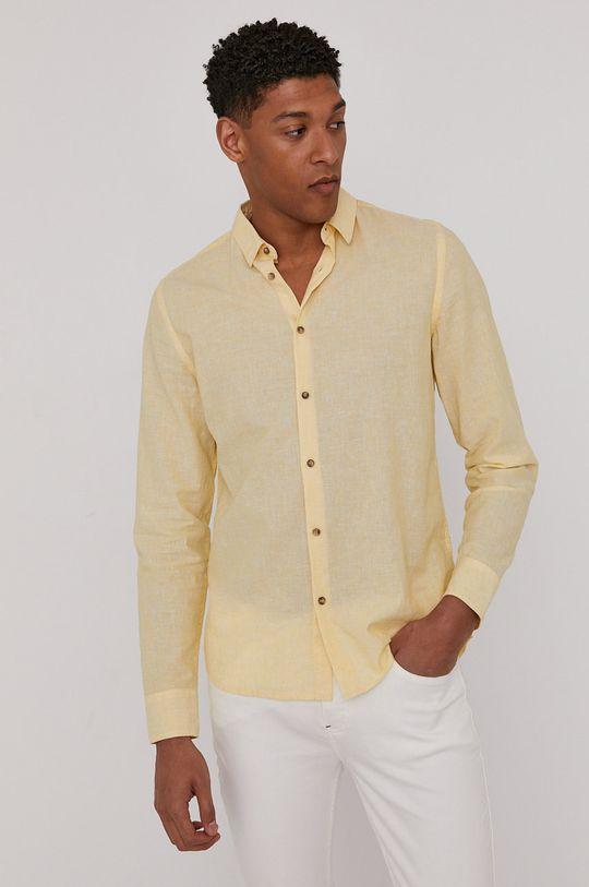 jasny żółty Medicine - Koszula Basic