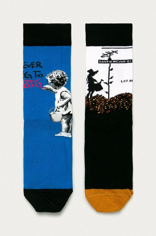 multicolor Medicine - Sosete Banksy's Graffiti (2-PACK) De femei