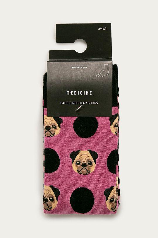 Medicine - Ponožky Animals (2-pak0  75% Bavlna, 2% Elastan, 23% Polyamid