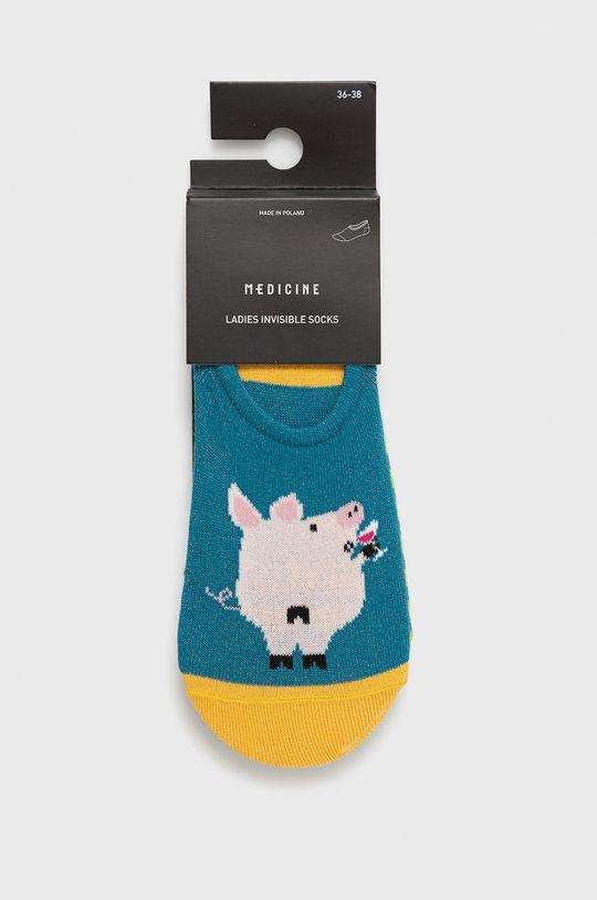 Medicine - Ponožky Animals (3-pak)  75% Bavlna, 2% Elastan, 23% Polyamid