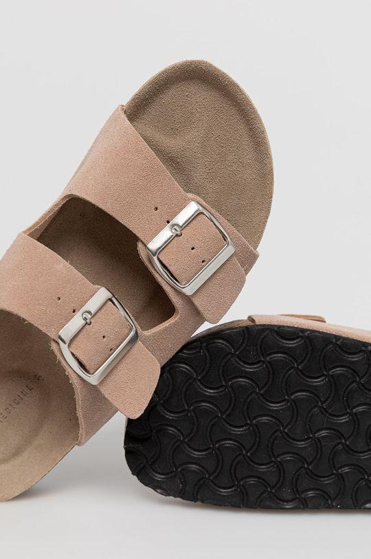 pastelově růžová Medicine - Semišové pantofle Summer Linen